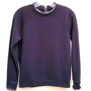 J. Crew Mercantile Ruffed Trim Sweatshirt Size XS